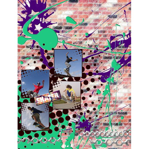 "Scrapbook template ""Skateboard #09"" in ""Sport"""