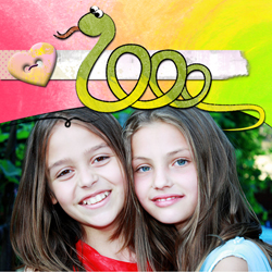 "Scrapbook template ""Funny zoo #12"" in ""Family"""