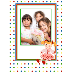 "Scrapbook template ""Toy Store #07"" in ""Baby Scrapbooking"""