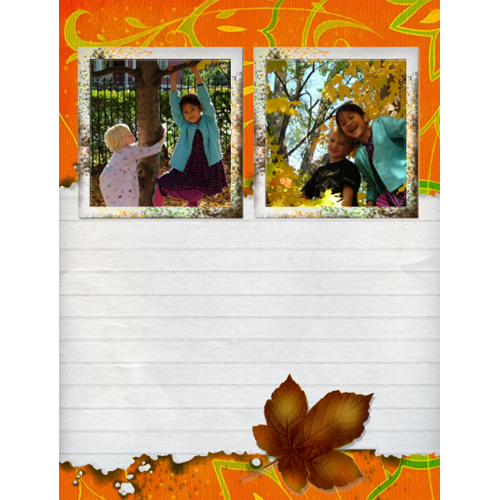 "Scrapbook template ""Fall #17"" in ""Fall"""