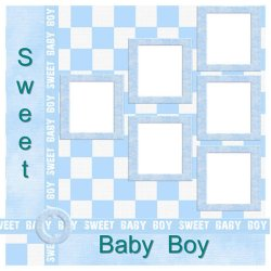 "Scrapbook template ""Sweet Baby Boy #1"" in ""Baby Scrapbooking"""