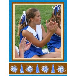 "Scrapbook template ""Cheerleaders #07"" in ""Cheerleaders"""