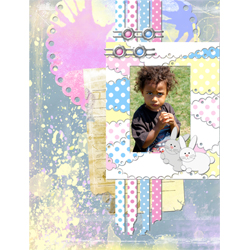 "Scrapbook template ""Easter 2010 #09"" in ""Easter"""
