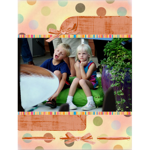 "Scrapbook template ""Friends #26"" in ""Friends Scrapbooking"""