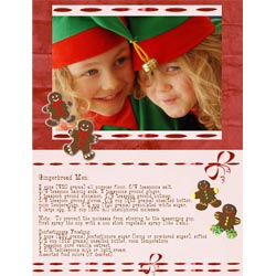 "Scrapbook template ""Christmas 2009 #06"" in ""Christmas Scrapbooking"""