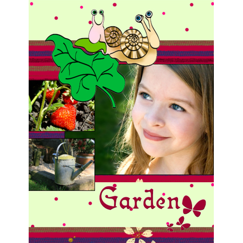 "Scrapbook template ""Garden #15"" in ""Nature"""