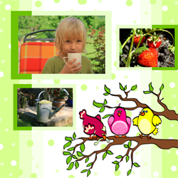 "Scrapbook template ""Garden #10"" in ""Nature"""