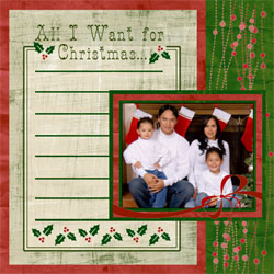 "Scrapbook template ""Chrisymas 2009 #19"" in ""Christmas Scrapbooking"""