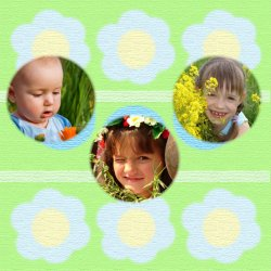 "Scrapbook template ""Spring #09"" in ""Spring"""