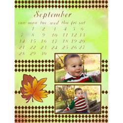 "Scrapbook template ""September #17"" in ""Calendars 2008"""