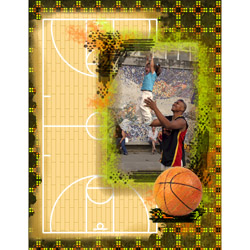 "Scrapbook template ""Basketball #01"" in ""Sport"""