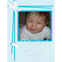 "Scrapbook template ""Baby firsts #03"" in ""Firsts"""