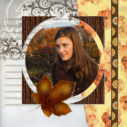 "Scrapbook template ""Fall #14"" in ""Fall"""