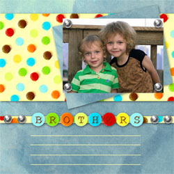 "Scrapbook template ""Family #12"" in ""Family"""