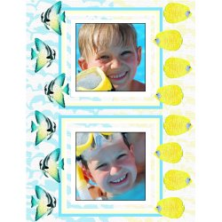 "Scrapbook template ""Sea life #14"" in ""Sea life"""