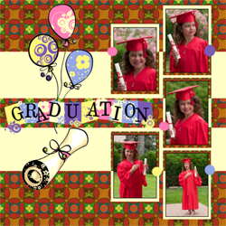"Scrapbook template ""Graduation #09"" in ""Graduation"""