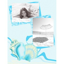 "Scrapbook template ""Summer #16"" in ""Summer Vacation"""