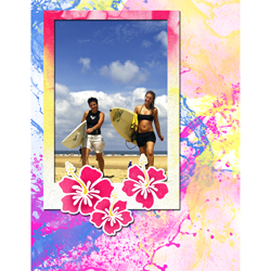 "Scrapbook template ""Surfing #03"" in ""Summer Vacation"""