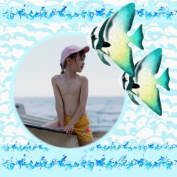 "Scrapbook template ""Sea life #10"" in ""Sea life"""