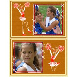 "Scrapbook template ""Cheerleaders #04"" in ""Cheerleaders"""