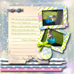 "Scrapbook template ""Easter 2010 #02"" in ""Easter"""