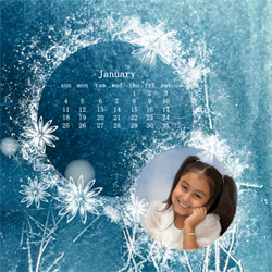 "Scrapbook template ""January #20"" in ""Calendars 2009"""