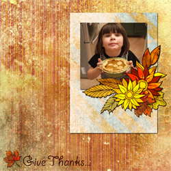 "Scrapbook template ""Thanksgiving 2011 #04"" in ""Thanksgiving"""
