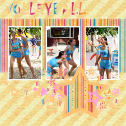 "Scrapbook template ""Volleyball #04"" in ""Sport"""