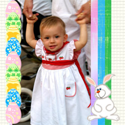 "Scrapbook template ""Easter #30"" in ""Easter"""