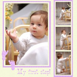 "Scrapbook template ""Baby firsts #20"" in ""Firsts"""