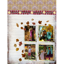 "Scrapbook template ""Fall #15"" in ""Fall"""