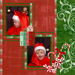 "Scrapbook template ""New Year 2009 #16"" in ""New Year"""
