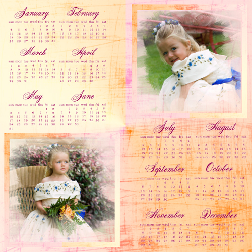 "Scrapbook template ""Calendar2009 #10"" in ""Calendars 2009"""