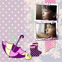 "Scrapbook template ""Rainy Day #04"" in ""Seasonal"""