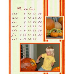 "Scrapbook template ""October #13"" in ""Calendars 2008"""