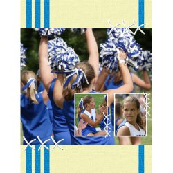 "Scrapbook template ""Cheerleaders #06"" in ""Cheerleaders"""