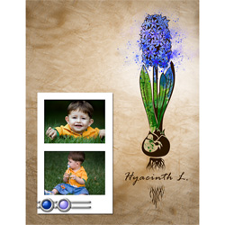 "Scrapbook template ""Spring flowers #01"" in ""Spring"""