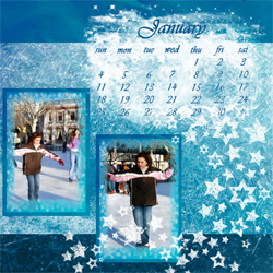 "Scrapbook template ""January #06"" in ""Calendars 2009"""