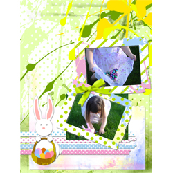 "Scrapbook template ""Easter 2010 #19"" in ""Easter"""