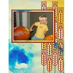 "Scrapbook template ""Thanksgiving #15"" in ""Thanksgiving"""
