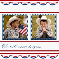 "Scrapbook template ""Memorial Day #24"" in ""Memorial Day"""