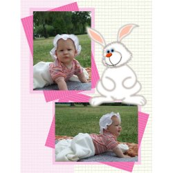 "Scrapbook template ""Baby firsts #13"" in ""Firsts"""