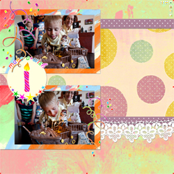 "Scrapbook template ""Birthday party #12"" in ""Birthday Scrapbooking"""