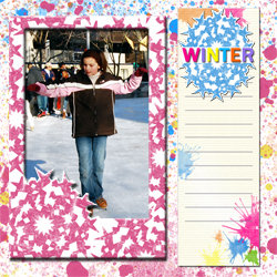 "Scrapbook template ""Winter time #20"" in ""Winter Vacation"""