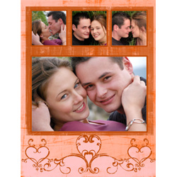 "Scrapbook template ""Love #05"" in ""Love Scrapbooking"""