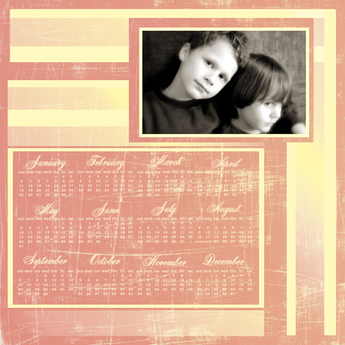 "Scrapbook template ""Calendar2009 #02"" in ""Calendars 2009"""