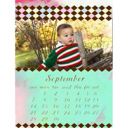 "Scrapbook template ""September #15"" in ""Calendars 2008"""