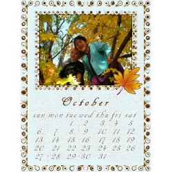 "Scrapbook template ""October #15"" in ""Calendars 2008"""
