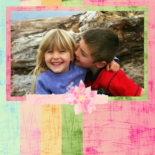 "Scrapbook template ""Love #16"" in ""Love Scrapbooking"""