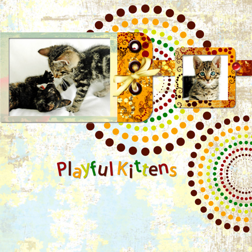 "Scrapbook template ""Cats Day #18"" in ""Pets"""